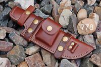 Custom Hand Made Pure Leather Sheath For Fixed Blade Knife - Q 778