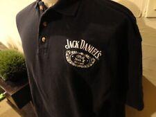 Black Chase Authentics Jack Daniels #20 NCAA Car Racing Cotton Polo Shirt XL