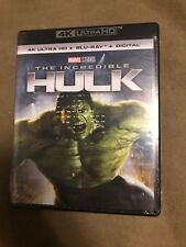 The Incredible Hulk (4K UHD, Blu-ray, Digital, 2-Disc Set, 2018) NEW