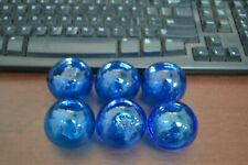 "6 PCS DECORATIVE REPRODUCTION GLASS FLOAT FISHING BALL 3/"" PATRIOTIC"