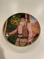 """John Wayne~Long Arm of the Law~Collector Plate~Franklin Mint~8 1/4"""" ~Vintage"""