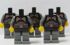 LEGO 5 Body & Torso For Viking Knight Minifigure Figure Army Soldier Castle