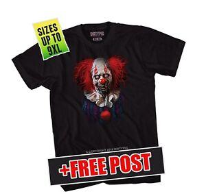 Zombie Clown Big Mens Shirt L/XL/2XL/3XL/4XL/5XL/6XL/7XL/8XL/9XL