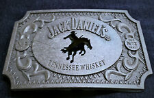 SQH1 Jack Daniels Old No.7 Belt Buckle Horse Western Cowboy Antique silver color