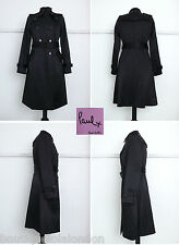 Paul Smith Black Satin Mac Size: UK 8-10 Little Worn - Superb Condition