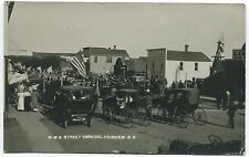 FAIRVIEW, SD ANTIQUE RPPC PHOTO POSTCARD MWA Street Carnival
