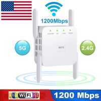 5G 1200Mbps Wireless WiFi Repeater Extender Long Range Wi-Fi Signal Amplifier