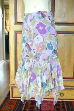 Phase Eight Silk Skirt Size 8 new without tags handkerchief hem