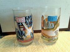 Star Wars Collector Promotional 2 Glass Set  Skywalker Vader Jabba the Hut Jedi