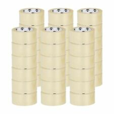 36 Rolls Carton Box Sealing Packing Packaging Tape Clear 3 Mil 48mm X 50m