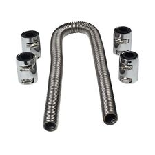"48"" Stainless Steel Radiator Flexible Coolant Water Hose Kit with Caps Universal"