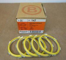 """BOX OF 5 NIB BRIDGEPORT 147 STEEL SEALING LOCKNUT 2-1/2"""" LIQUIDTIGHT (2 AVAIL)"""