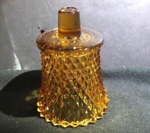 1 w/peg Vintage Hobnail Amber Glass Votive Candle Holder Diamond Cut