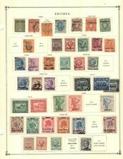Eritrea Collection from 1840-1949 Scott Intern Albums