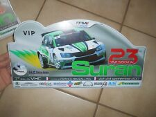 Plaque Plastique Rallye du Suran 2017 Skoda Fabia WRC