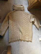 Massimo Dutti Brown Chunky Turtleneck  Winter Jumper Exceptional Size M