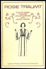 Theaterprogramm, Maxim Gorki Theater, Peter Hacks, Rosie träumt, 1975