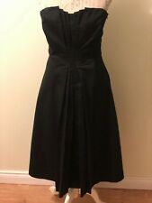 Coast Couture Black Strapless Dress Size 12