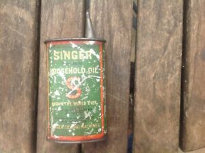 Vintage Singer Sewing Machines Household oil can Advertising  120 mm High