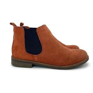 Seasalt Deluxe Brown Suede Chelsea Boots Anole Bootie UK 8