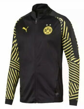 $90 Puma Borussia Dortmund  BVB T7 Track Jacket Men's SMALL Black/Yellow 753352