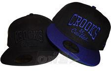 07c1b1d710e Crooks   Castles Core Logo New Era 59FIFTY Woven Fitted Cap Hat Black Blue  Moon