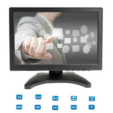 "Portable 10"" Touch Screen IPS LCD Digital Monitor AV/VGA/TV/HDMI Fr POS KIOSK W1"