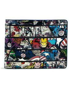 Marvel Heroes Avengers Bi-Fold Wallet Captain America Iron Man New With Tag