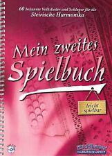 Steirische Harmonika Noten: Mein zweites Spielbuch - mit CD -leicht Griffschrift