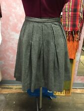 Vintage 60's Gray Wool Pleated Skirt Size XS