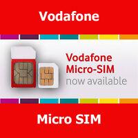 Vodafone Micro Pay As You Go SIM Card For Samsung Galaxy S3 S4 S5 & Mini Version