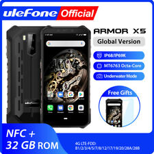 "Ulefone Armor X5 5.5"" Android 9.0 IP68 Rugged Smartphone 3+32GB NFC Face Unlock"
