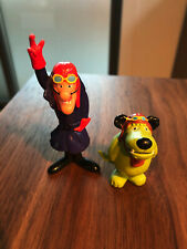 Dastardly and Muttley Pvc figures Hanna-Barbera *Rare* good condition!