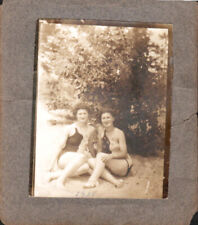 Vintage Photo -girlfriends  bathing suits at Beach Lesbian/Gay interest- c1930s