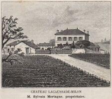MÉDOC. PAUILLAC. Chateau Lacaussade-Milon. Mortagne. Bordeaux. SMALL 1908