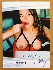 Janina Wissler Ak Playboy Playmate Miss September 2005 Original Signed