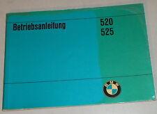 Betriebsanleitung BMW 5er E12 520 / 525 Stand 03/1974