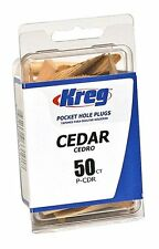 Kreg P-CDR Solid Wood Pocket Hole Plugs, Cedar, 50-Pack *