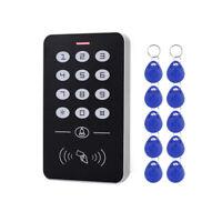 DC12V Elektronische Zugang Kontrolle Tastatur RFID Karten mit TüRklingel Hi D6A9