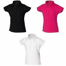 Girls' Polo Neck Short Sleeve Sleeve Cotton Blend T-Shirts, Top & Shirts (2-16 Years)
