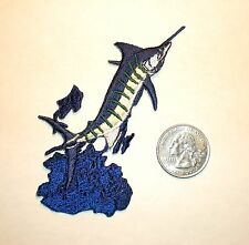 Marlin Fish Embroidered fishing patch applique