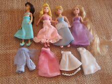 Polly Pocket Disney Princess Lot Fabric Dresses Jasmine Cinderella Aurora A48