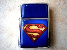 SUPERMAN MOVIE MAN OF STEEL STAR CIGAR CIGARETTE LIGHTER & extra zippo flints