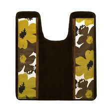 Popular Bath The Floral Bouquet Collection Banded Contour, Chocolate Rug New*
