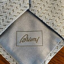 "BRIONI NWT LIGHT BLUE 100% SILK RECENT NECK TIE MADE IN ITALY W3.6""x L58"""