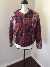 NWT H&M Paisley Quilted Bomber Jacket Size 10