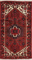 3'x6' Tribal Geometric Oriental Hamadan Area Rug Wool Hand-Knotted Foyer Carpet