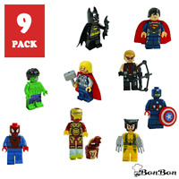 9pc Marvel Lego Avengers Super Mini New Heroes Figure Black Infinity Mini figure