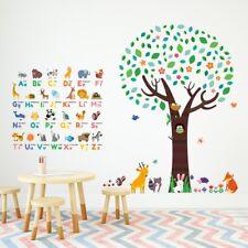 ab2993d14 Decowall Animal Alphabet Large Tree Nursery Kids Wall Sticker Decal  Dm-1614p1312