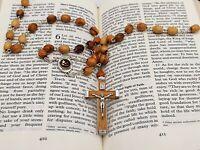 Bethlehem Handmade Olive Wood Intertwined  Linked Hearts Love present gift